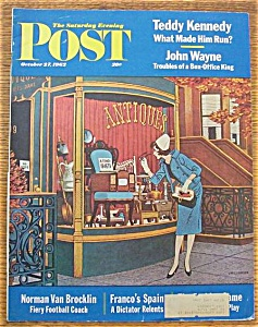Saturday Evening Post Cover By Williamson-oct 27, 1962
