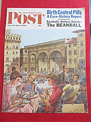 Saturday Evening Post Cover By Alajalov-june 30, 1962