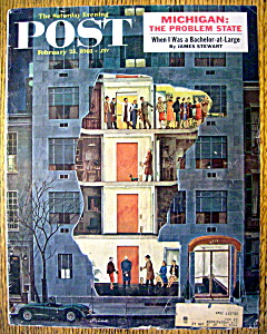 Saturday Evening Post Cover By Prins-february 25, 1961