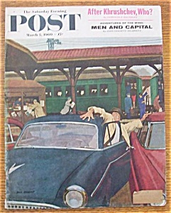 Saturday Evening Post Cover-march 5, 1960-dick Sargent