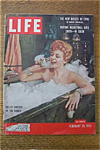 Life Magazine - February 28, 1955 - Shelley Winters
