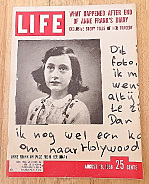 Life Magazine August 18, 1958 Anne Frank's Diary