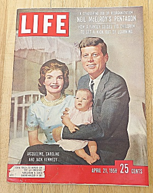 Life Magazine April 21, 1958 Jack Kennedy & Family