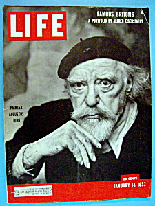 Life Magazine-january 14, 1952-painter Augustus John