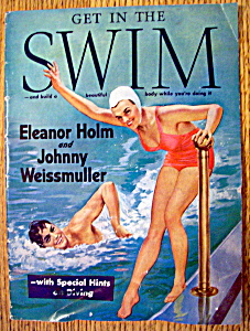 Get Into Swim Magazine - 1940 - Johnny Weismuller