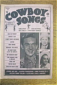 Cowboy Songs Magazine - Ray Price - August 1954