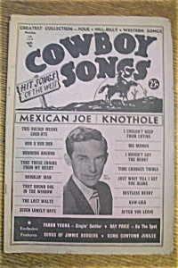 Cowboy Songs Magazine - Ray Price - September 1953
