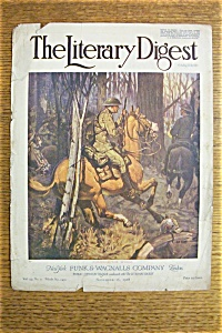 The Literary Digest Cover - Nov 16, 1918