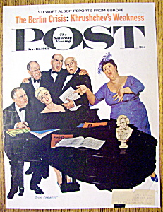 Saturday Evening Post Cover By Sargent-dec 16, 1961