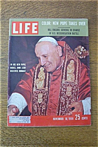 Life Magazine - November 10, 1958 - A New Pope