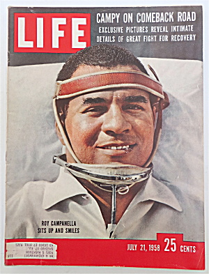 Life Magazine-july 21, 1958-baseball's Roy Campanella