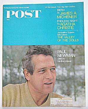 Saturday Evening Post February 24, 1968 Paul Newman (Image1)