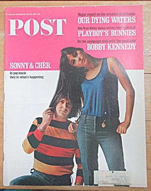 Sat Evening Post Magazine-April 23, 1966-Sonny & Cher (Image1)