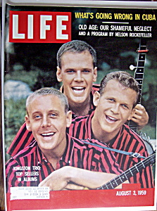 Life Magazine August 3, 1959 Kingston Trio