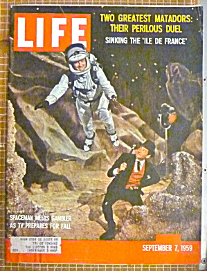 Life Magazine September 7, 1959 Spaceman & Gambler