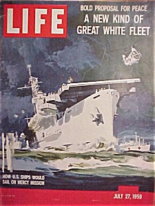 Life Magazine July 27, 1959 Ship Sails On Mercy Mission