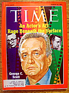 Time Magazine-march 22, 1971-george C. Scott
