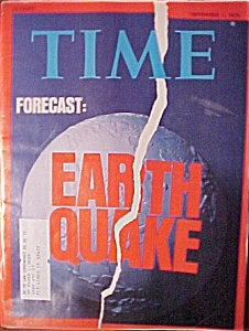 Time Magazine - Sept 1, 1975 - Earthquake