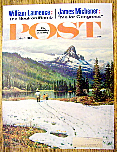 Saturday Evening Post Cover By Clymer-may 5, 1962