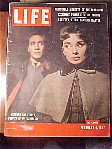Life Magazine - February 4, 1957 - Hepburn & Ferrer (Image1)