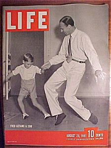 Life Magazine - August 25, 1941- Fred Astaire & Son