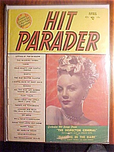 Hit Parader Magazine - April 1950 - Janet Blair Cover