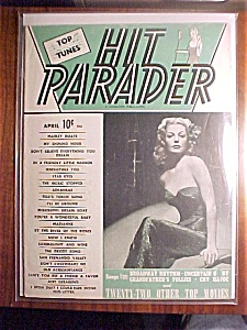 Hit Parader Magazine - April 1944 - Ann Sheridan