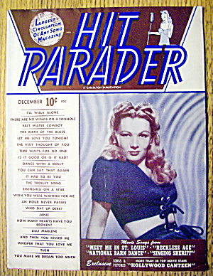 Hit Parader Magazine-december 1944-veronica Lake