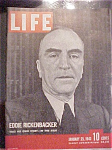 Life Magazine - January 25,1943 - Eddie Ricken Backer