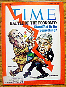 Time Magazine-august 16, 1971-battle Of Economy