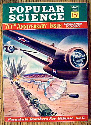 Popular Science Magazine-may 1942-parachute Bombers