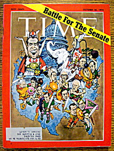 Time Magazine-october 26, 1970-battle For The Senate