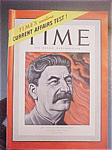 Time Magazine - October 27, 1941 - Stalin Cover