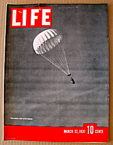 Life Magazine-march 22, 1937-parachute Test