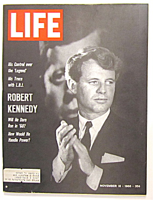 Life Magazine November 18, 1966 Robert Kennedy