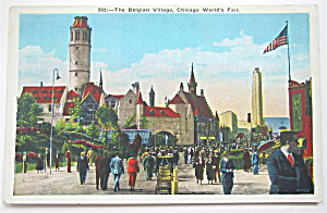 The Belgian Village , Chicago World's Fair Postcard (Image1)