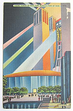 Theme Tower Of New York World's Fair 1939 Postcard