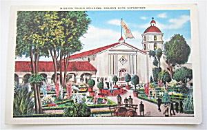 Mission Trails Building Golden Gate Exposition Postcard (Image1)