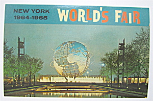 Unisphere At Night, New York World's Fair Postcard