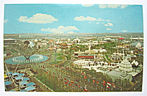 Unisphere & Court Of Nations, New York Fair Postcard (Image1)