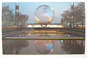 Unisphere Night Scene, New York World Fair Postcard
