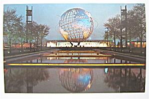 Unisphere Night Scene, New York World Fair Postcard (Image1)
