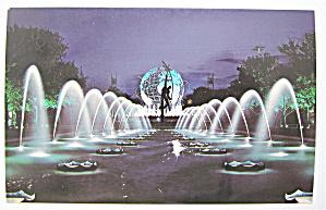 Unisphere & The Fountains, New York World Fair Postcard (Image1)