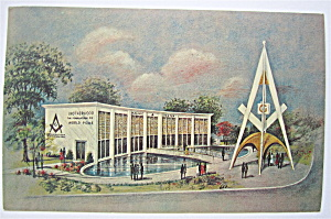 Masonic Brotherhood Center, New York Fair Postcard