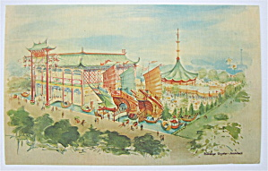 Hong Kong Pavilion, 1965 New York World Fair Postcard