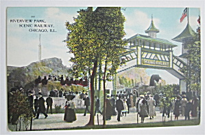 Riverview Park, Scenic Railway, Chicago, ILL Postcard (Image1)