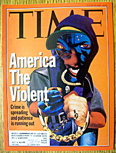 Time Magazine-august 23, 1993-america The Violent