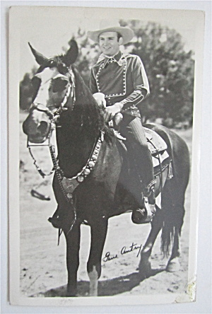 Gene Autry On His Horse Postcard