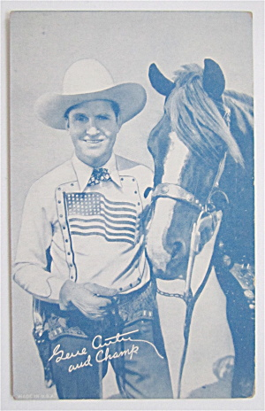 Gene Autry And His Horse Champ Postcard