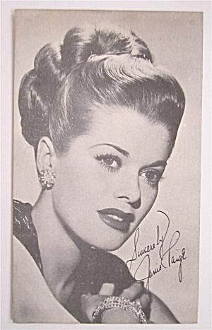 Janis Paige Postcard (Image1)